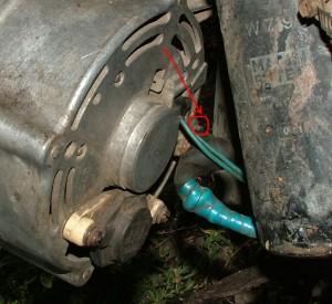 установка генератора в BMW E21