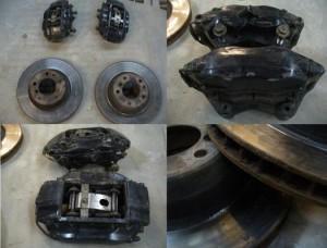 ремонт суппорта на BMW E38