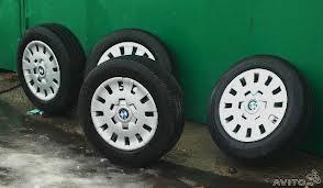 удалить колпаки BMW E46