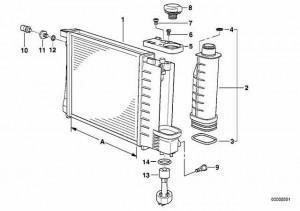 течет радиатор bmw e36