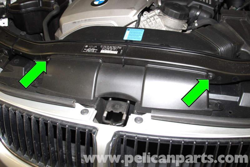 передние опоры радиатора e90