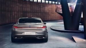 BMW 8 серий 2013 вид сзади