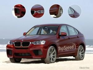 BMW X4 M красный