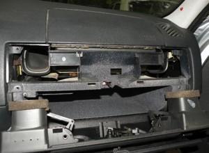 демонтаж панели обдува e36