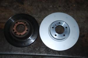550 Е60 диски тормозные