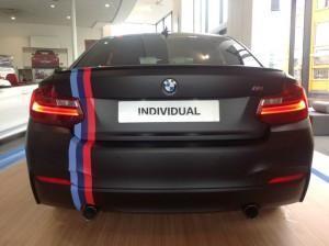 Тюнинг BMW M235i сзади