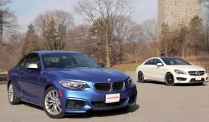 BMW M235i и Benz CLA 45