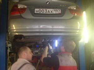 старый выхлоп BMW e90