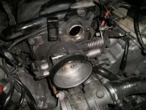 установка клапана картерных газов на BMW E38