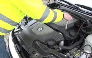 замена фильтра BMW e46(320d)