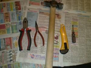 инструменты для ремонта фар e39