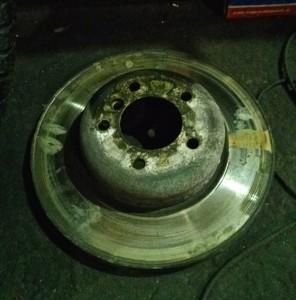 потертые тормозные диски bmw z4