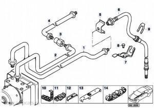 тормозного трубопровода bmw e46
