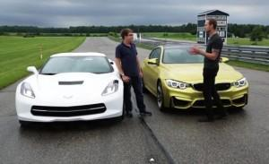 сравнение BMW M4 Chevrolet Corvette