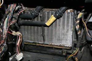 радиатор печи bmw