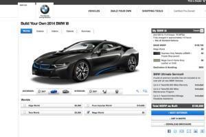 конфигурацию BMW i8 онлайн