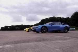 гонка BMW i8 и Porsche 991 S
