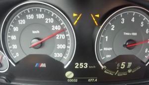 BMW M4 кабриолет 270 км в час