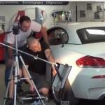 Видео инструкция: ремонт вмятины на BMW Z4