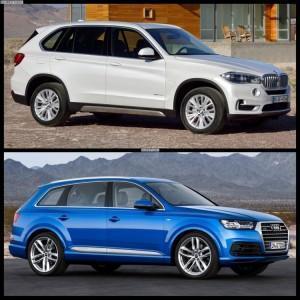 похожие Audi Q7 и BMW X5