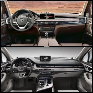 салоны Audi Q7 и BMW X5