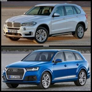 сравнить  Audi Q7 и BMW X5