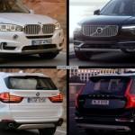 Фото сравнения Volvo XC-90 и нового BMW X5 (конкуренты?)
