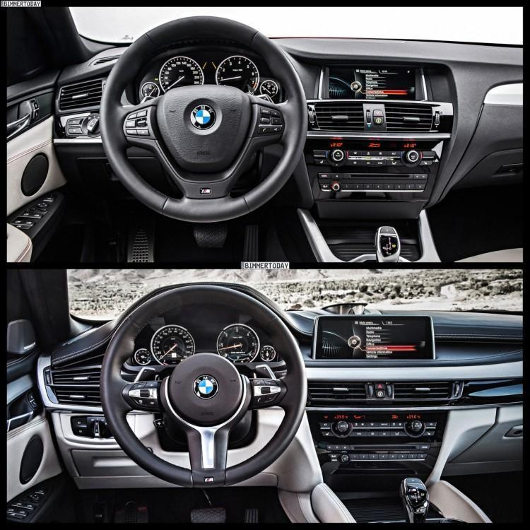 BMW X4 и BMW X6 салон