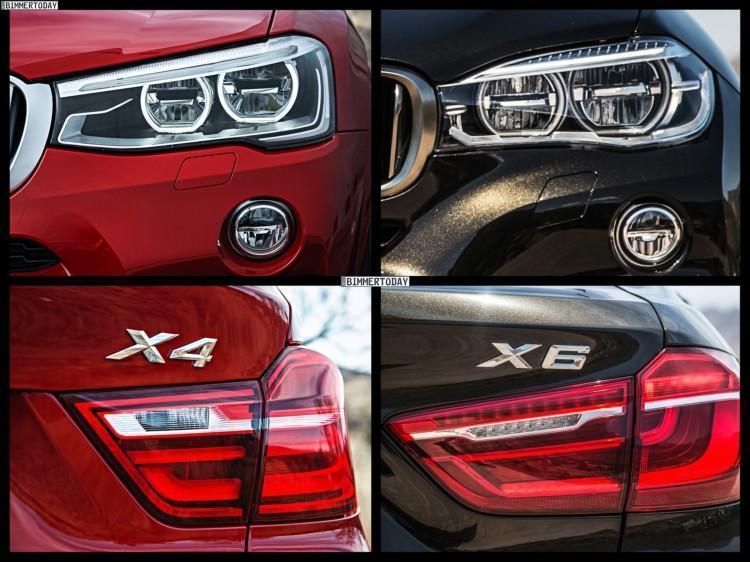 BMW X4 и BMW X6 сравнение