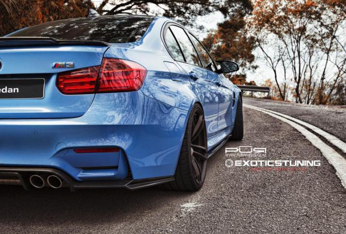 Тюнинг BMW F80 M3 — новые колеса и карбоновые вставки