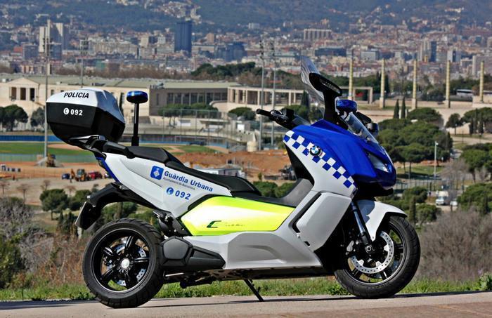BMW C скутер полиция