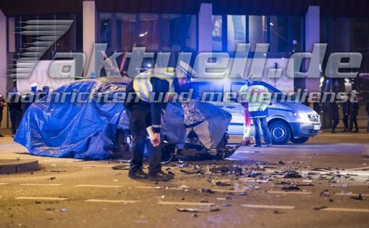 авария новой BMW 7-й серии