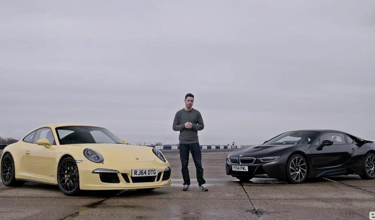 Видео: кто выиграет BMW i8 или Porsche 911?