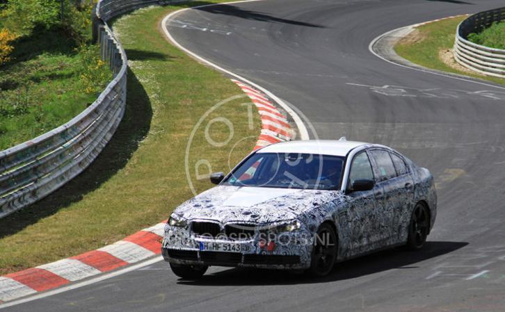 Фотографии с очередного теста F90 BMW M5 в Нюрбургринге