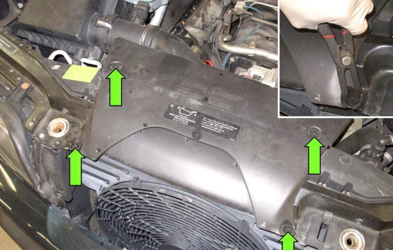 Замена бачка гидроусилителя рулевого управления на BMW X5(E53)