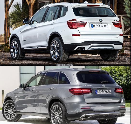 фото Mercedes-Benz GLC (X253) и BMW X3