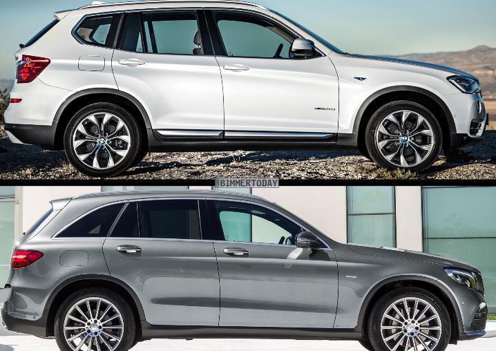 сравнение Mercedes-Benz GLC (X253) и BMW X3