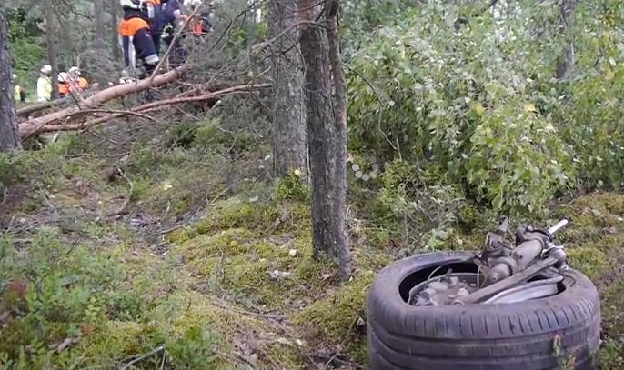 Видео с места аварии новой BMW M4