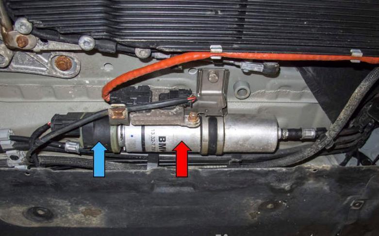 Замена топливного фильтра на BMW E90 дизель