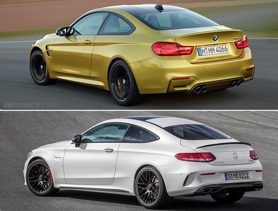 BMW M4 сравнение Mercedes