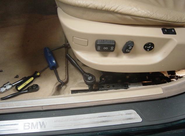 Как снять сидения и установить подогрев на BMW E38