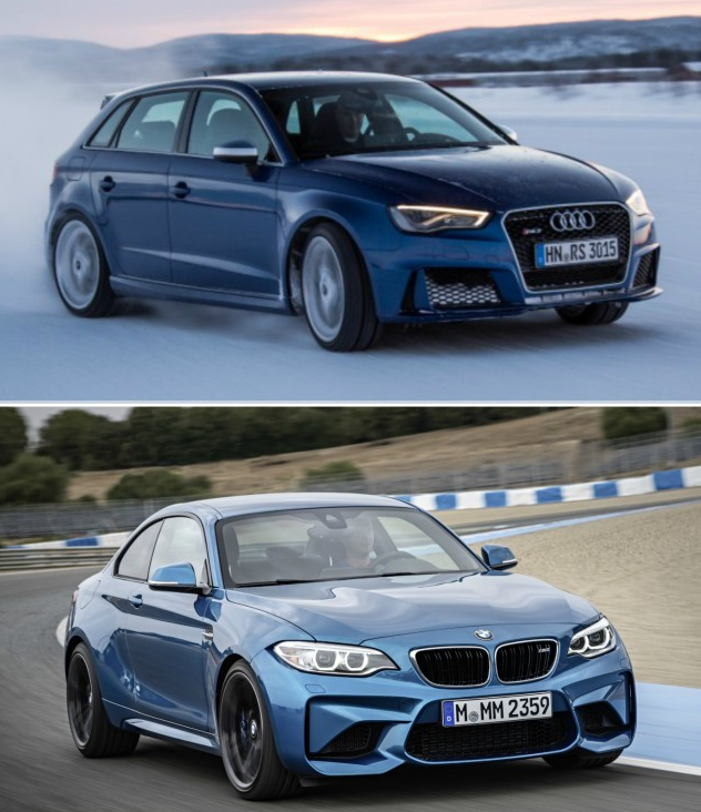 сравнение BMW M2 и Audi RS3