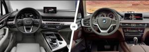 BMW X5 M50D против Audi SQ7 TDI салон