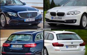 Mercedes-Benz E Class Estate и BMW 5 Series Touring фото