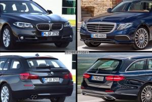 Mercedes-Benz E Class Estate и BMW 5 Series Touring