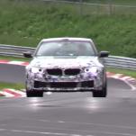 Видео теста BMW F90 M5 на трассе Нюрбуринг