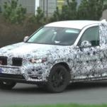 Видео: BMW G01 X3 2018 года на тестовой трассе Нюрбургринг