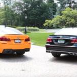 Видео сравнение BMW F10 M5 и Mercedes-Benz E63 AMG S