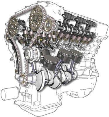 BMW 2.5 V6 TDI engine