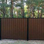 Как собрать ворота из профнастила?